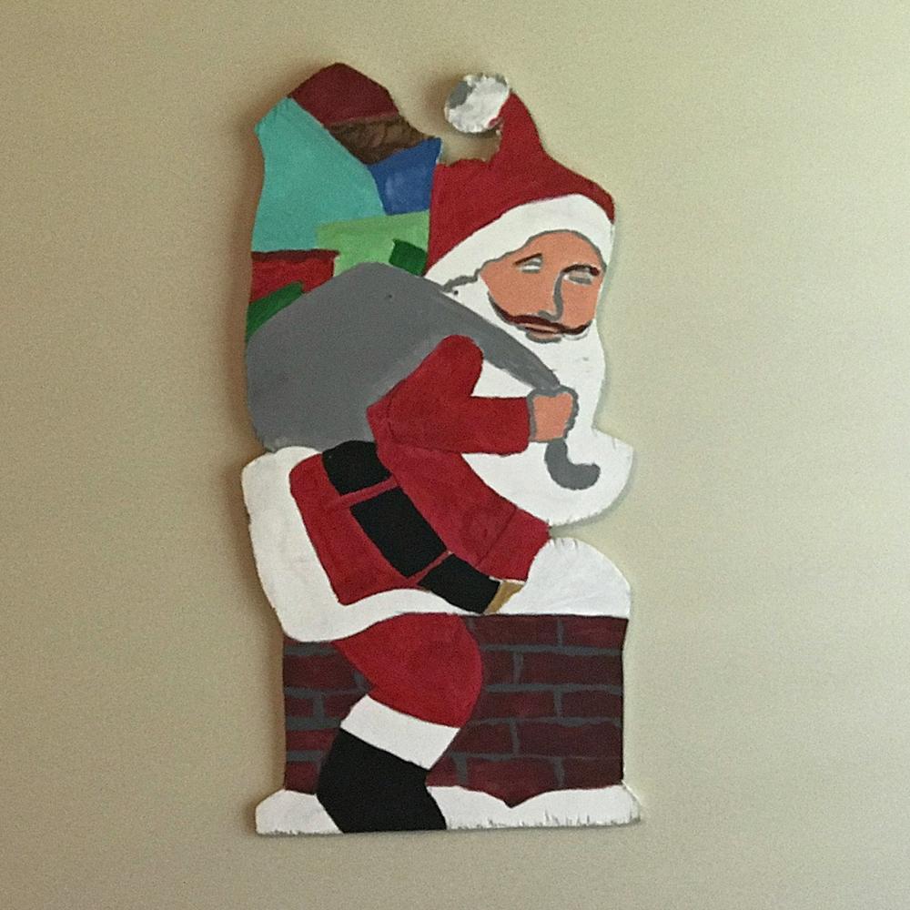Chimney Santa Decoration Porch Santa Us Craft Company