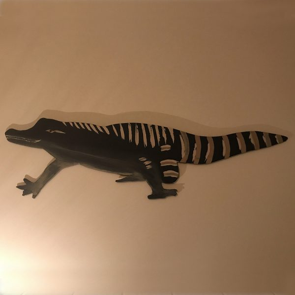 Hand Painted Alligator Wall Plaque