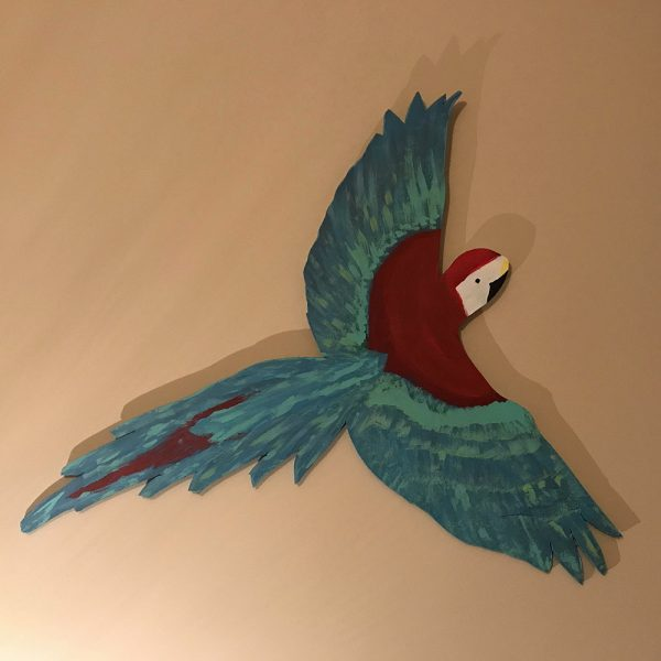 Hand Pained Parrot