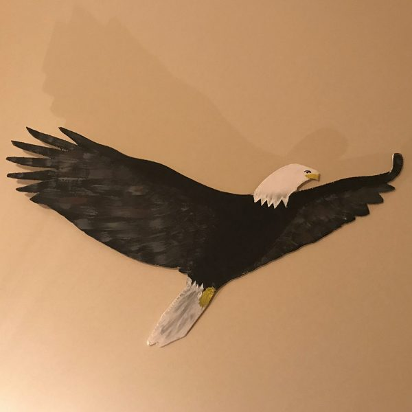 Handmade Eagle Wall Plaque