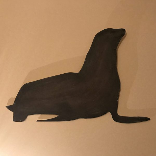 Painted Seal Wall Plaque