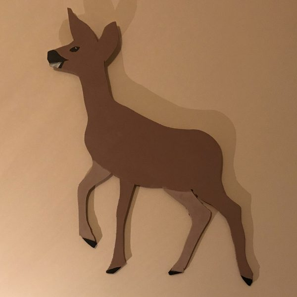 Small Deer Wall Plaque