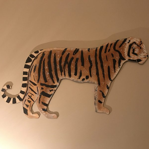 Hand Painted Tiger Wall Art